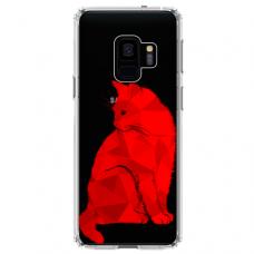 """Samsung Galaxy S9 TPU dėklas unikaliu dizainu 1.0 mm """"u-case Airskin Red Cat design"""""""