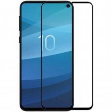 AKCIJA! Samsung Galaxy s10e LENKTAS APSAUGINIS STIKLAS TEMPERED GLASS JUODAS (pažėista pakuotė)