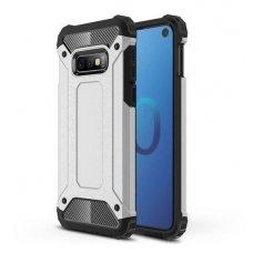 Samsung galaxy s10e dėklas Hybrid Armor  TPU+PC plastikas sidabrinis
