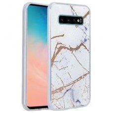 Samsung galaxy s10 dėklas Marmur silikonas baltas