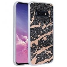 Samsung galaxy s10e dėklas Marmur silikonas juodas