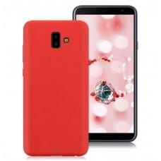 Samsung galaxy j6 plus 2018 dėklas silicone cover silikonas raudonas