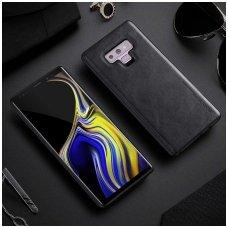 Samsung galaxy s10e dėklas X-Level Earl III pu oda ir tpu juodas