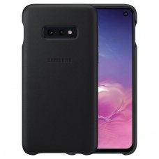 "Samsung Galaxy S10e originalus odinis dėklas ""Leather Cover"" juodas"
