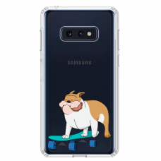 "Samsung Galaxy S10e TPU dėklas unikaliu dizainu 1.0 mm ""u-case Airskin Doggo 2 design"""