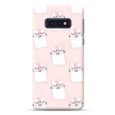 "Samsung Galaxy S10e TPU dėklas unikaliu dizainu 1.0 mm ""u-case Airskin Pink Kato design"""