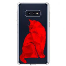 """Samsung Galaxy S10e TPU dėklas unikaliu dizainu 1.0 mm """"u-case Airskin Red Cat design"""""""