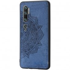 xiaomi mi note 10 / mi note 10 pro dėklas Mandala TPU+ medžiaginis pluoštas mėlynas