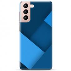 """Samsung Galaxy S21 TPU dėklas unikaliu dizainu 1.0 mm """"u-case Airskin Blue design"""""""