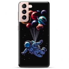 "Samsung Galaxy S21 TPU dėklas unikaliu dizainu 1.0 mm ""u-case Airskin Cosmo design"""