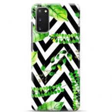 """Samsung Galaxy S20 FE TPU dėklas unikaliu dizainu 1.0 mm """"u-case Airskin Leaves 2 design"""""""
