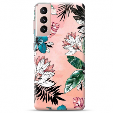 "Samsung Galaxy S21 TPU dėklas unikaliu dizainu 1.0 mm ""u-case Airskin Flowers 1 design"""