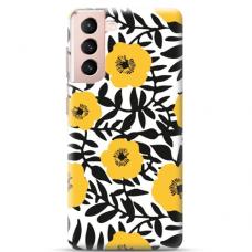 "Samsung Galaxy S21 Plus TPU dėklas unikaliu dizainu 1.0 mm ""u-case Airskin Flowers 2 design"""