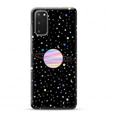 "Samsung Galaxy S20 FE TPU dėklas unikaliu dizainu 1.0 mm ""u-case Airskin Planet design"""
