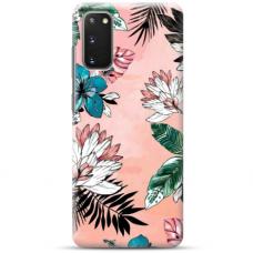 "Samsung Galaxy S20 FE TPU dėklas unikaliu dizainu 1.0 mm ""u-case Airskin Flowers 1 design"""