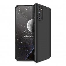 Samsung galaxy s20 HURTEL dėklas dvipusis 360 plastikas juodas