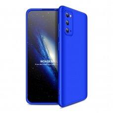 Samsung galaxy s20 HURTEL dėklas dvipusis 360 plastikas mėlynas