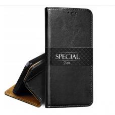 huawei y5p natūralios odos dėklas Book Special juodas