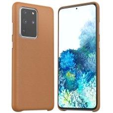 Samsung galaxy s20 plus dėklas Araree Pellis rudas
