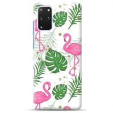 """Samsung Galaxy S20 plus TPU dėklas unikaliu dizainu 1.0 mm """"u-case Airskin Flamingos design"""""""