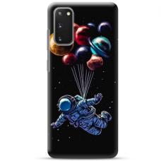 "Samsung Galaxy S20 TPU dėklas unikaliu dizainu 1.0 mm ""u-case Airskin Cosmo design"""