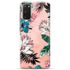 "Samsung Galaxy S20 TPU dėklas unikaliu dizainu 1.0 mm ""u-case Airskin Flowers 1 design"""