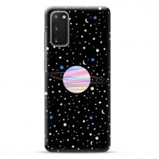 "Samsung Galaxy S20 TPU dėklas unikaliu dizainu 1.0 mm ""u-case Airskin Planet design"""