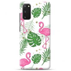 """Samsung Galaxy S20 TPU dėklas unikaliu dizainu 1.0 mm """"u-case Airskin Flamingos design"""""""