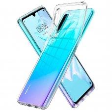 akcija! Huawei P smart Pro DĖKLAS ultra slim 0,5 mm SILIKONAS SKAIDRUS
