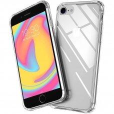 iphone se 2020 dėklas X-Level Space PC plastikas+TPU skaidrus