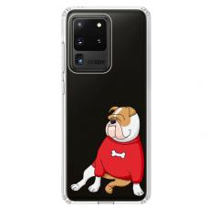 "Samsung Galaxy S20 ultra TPU DĖKLAS UNIKALIU DIZAINU 1.0 MM 1.0 mm ""u-case airskin Doggo 5 design"""