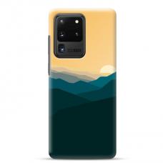 "Samsung Galaxy S20 ultra TPU dėklas unikaliu dizainu 1.0 mm ""u-case airskin Mountains 2 design"""