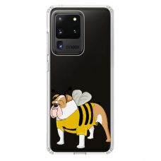 "Samsung Galaxy S20 ultra TPU dėklas unikaliu dizainu 1.0 mm ""u-case Airskin Doggo 1 design"""