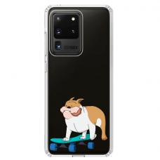 "Samsung Galaxy S20 ultra TPU dėklas unikaliu dizainu 1.0 mm ""u-case Airskin Doggo 2 design"""
