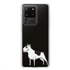 "Samsung Galaxy S20 ultra TPU dėklas unikaliu dizainu 1.0 mm ""u-case Airskin Doggo 3 design"""
