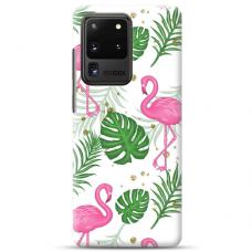 "Samsung Galaxy S20 ultra TPU dėklas unikaliu dizainu 1.0 mm ""u-case Airskin Flamingos design"""