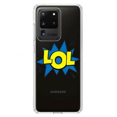 """Samsung Galaxy S20 ultra TPU dėklas unikaliu dizainu 1.0 mm """"u-case Airskin LOL design"""""""