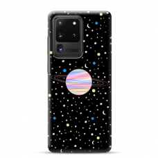 """Samsung Galaxy S20 ultra TPU dėklas unikaliu dizainu 1.0 mm """"u-case airskin Planet design"""""""
