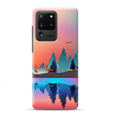 """Samsung Galaxy S20 ultra TPU dėklas unikaliu dizainu 1.0 mm """"u-case airskin Nature 5 design"""""""