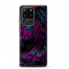 """Samsung Galaxy S20 ultra TPU dėklas unikaliu dizainu 1.0 mm """"u-case airskin Feather design"""""""
