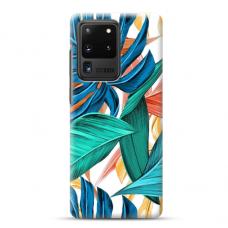 """Samsung Galaxy S20 ultra TPU dėklas unikaliu dizainu 1.0 mm """"u-case airskin Leaves 1 design"""""""