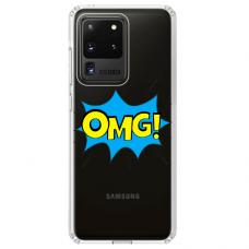 """Samsung Galaxy S20 ultra TPU dėklas unikaliu dizainu 1.0 mm """"u-case Airskin OMG design"""""""