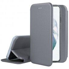 Samsung galaxy A03s atverčiamas dėklas Book elegance odinis sidabrinis