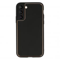 Samsung galaxy s21 dėklas TEL Protect Luxury juodas