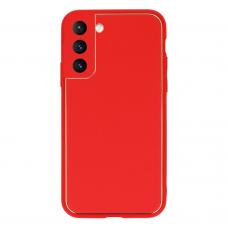 Samsung galaxy s21 dėklas TEL Protect Luxury raudonas