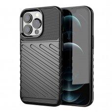 iphone 13 pro dėklas THUNDER SILICON TPU juodas