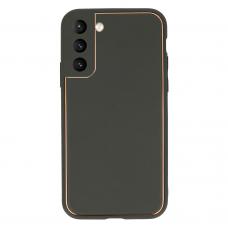 Samsung galaxy s21 plus dėklas TEL Protect Luxury pilkas