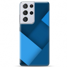 """Samsung Galaxy S21 Ultra TPU dėklas unikaliu dizainu 1.0 mm """"u-case Airskin Blue design"""""""