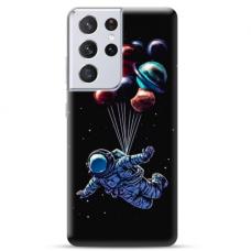 """Samsung Galaxy S21 Ultra TPU dėklas unikaliu dizainu 1.0 mm """"u-case Airskin Cosmo design"""""""