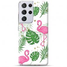 "Samsung Galaxy S21 Ultra TPU dėklas unikaliu dizainu 1.0 mm ""u-case Airskin Flamingos design"""